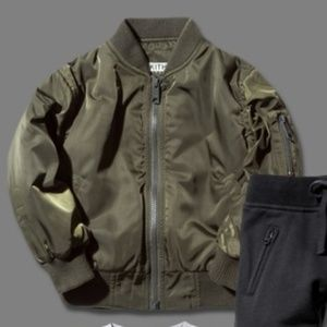 Other - KITH Army Green Kids Bomber Jacket